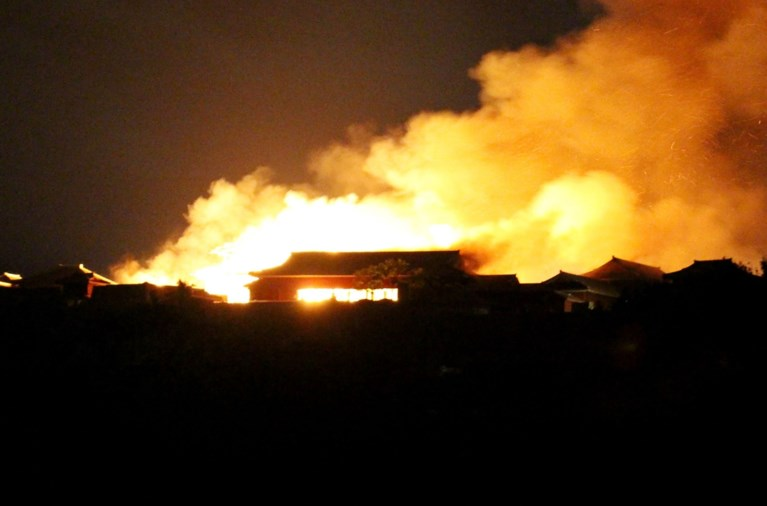 Wereldberoemd Shuri-kasteel in Japan gaat in vlammen op