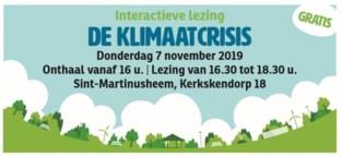 Lezing over de klimaatcrisis
