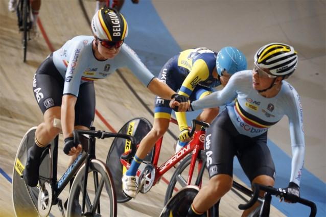 Belgische vrouwen verbeteren nationaal record in ploegenachtervolging