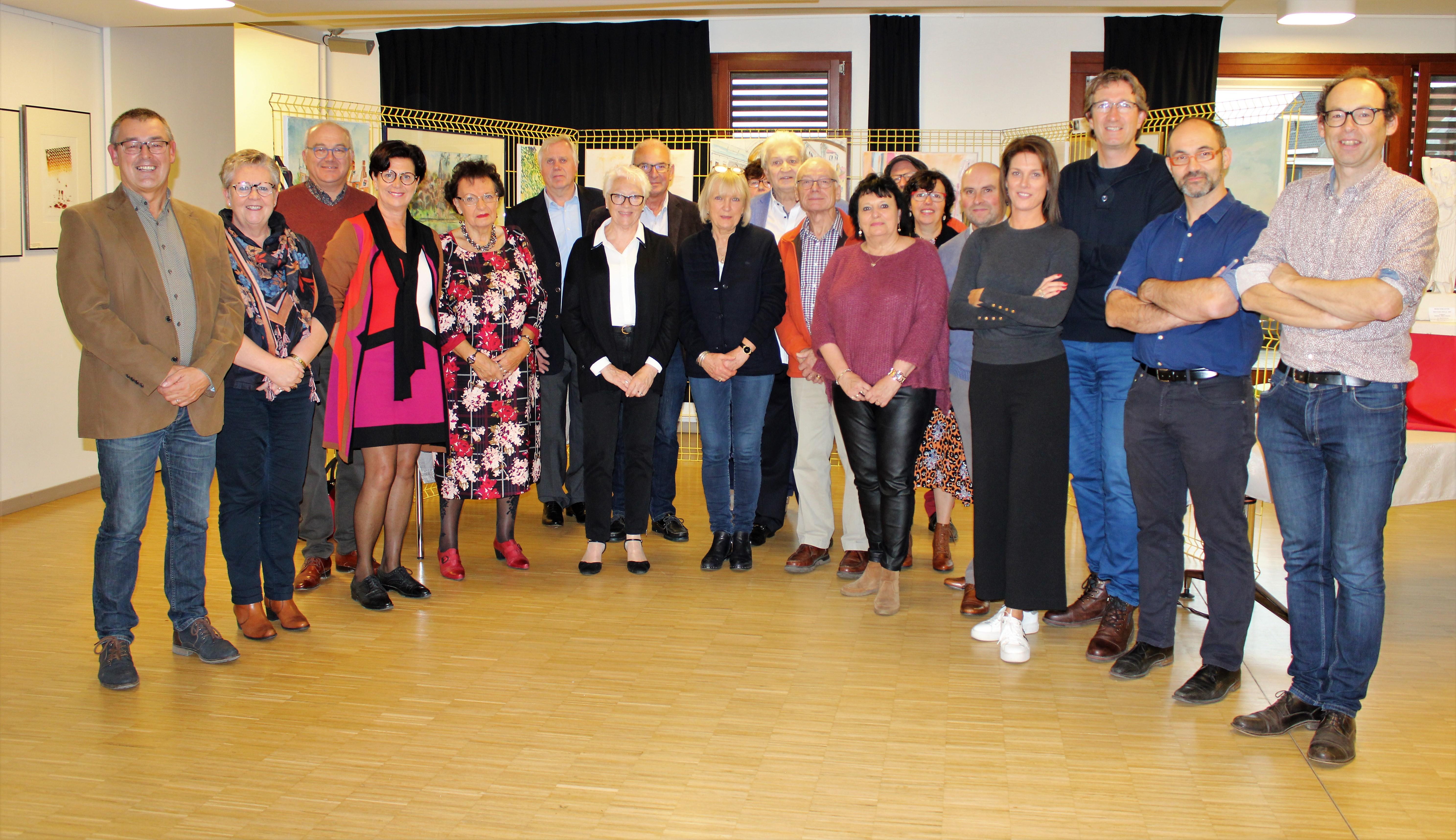 FOTO. Kunstenaars uit jumelagegemeente Audruicq  stellen tentoon in LDC De Ploeg