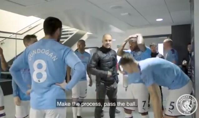 """De motivatiespeech van Pep Guardiola bij Manchester City zegt alles: """"Laat mannen als De Bruyne de wedstrijd winnen"""""""