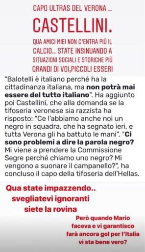 In Verona wordt na racistisch incident met Mario Balotelli opgeroepen klacht in te dienen tegen… Balotelli