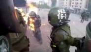 Chileense agenten vatten vuur na aanval met molotovcocktail