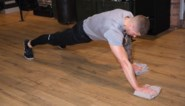 Planken met een handdoek: onze fitcoach doet het voor
