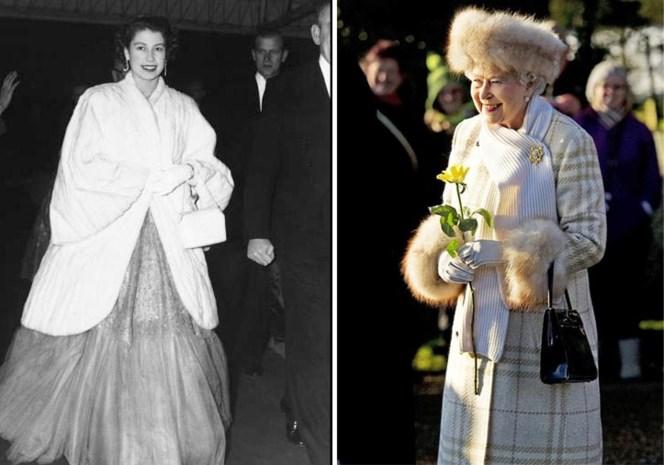 """Na 93 jaar zweert queen Elizabeth bont af en dat vindt niet iedereen een goede zaak: """"Garderobe nu vol plastic"""""""