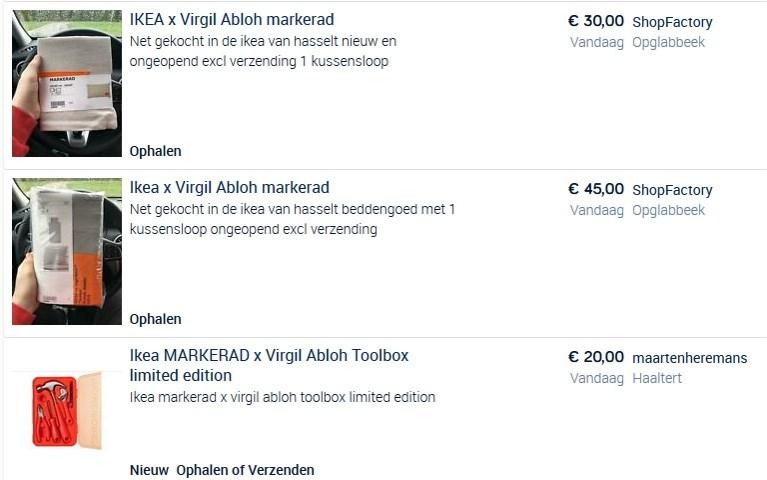 Ikea-collectie Virgil Abloh razendsnel uitverkocht, maar 'tweedehands' aangeboden voor dubbel van de prijs