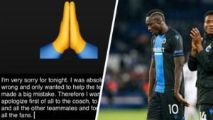 "Club Brugge-spits Diagne biedt excuses aan na penaltyklucht tegen PSG: ""Ik was absoluut verkeerd"""