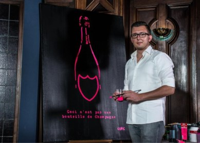 """Kunstenaar Cédric verslaat champagnemerk na jarenlange procedureslag: """"Hun vraag is beantwoord"""""""