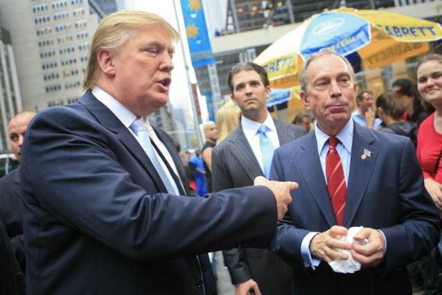 """Trump: Bloomberg """"zal niet slagen"""" in gooi naar Witte Huis"""