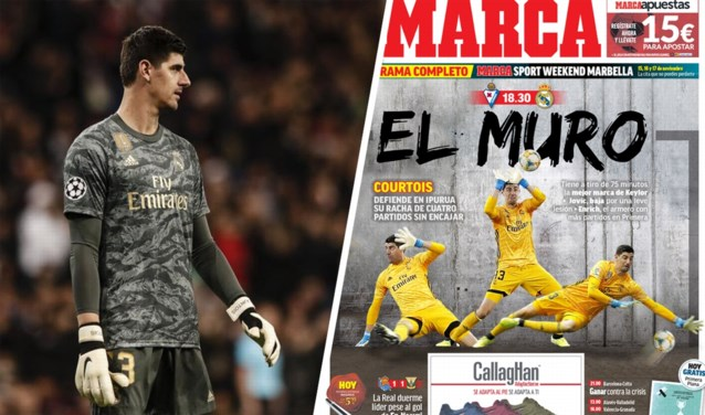 """Wat statistieken (en een nakend record) al niet kunnen doen: plots is Thibaut Courtois """"El Muro"""" in Spanje"""