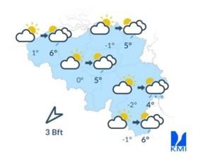 Temperaturen nemen stilaan af: sneeuw in het zuiden van het land, vrieskou in Vlaanderen