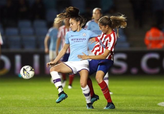 Tessa Wullaert speelt met City gelijk tegen Atletico in Champions League