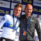 Zo vader, zo zoon: Europees kampioen Thibau en vader Sven.
