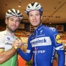 """Mark Cavendish en Iljo Keisse trainden gisteren in het Gentse Kuipke. """"De sfeer is hier uniek."""""""