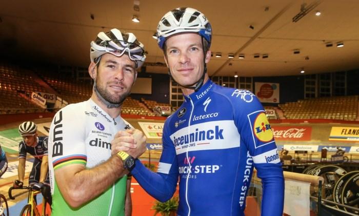"""Mark Cavendish blij als een kind dat hij met Iljo Keisse mag rondrijden in het Kuipke : """"Dit is de Tour van het baanwielrennen"""""""