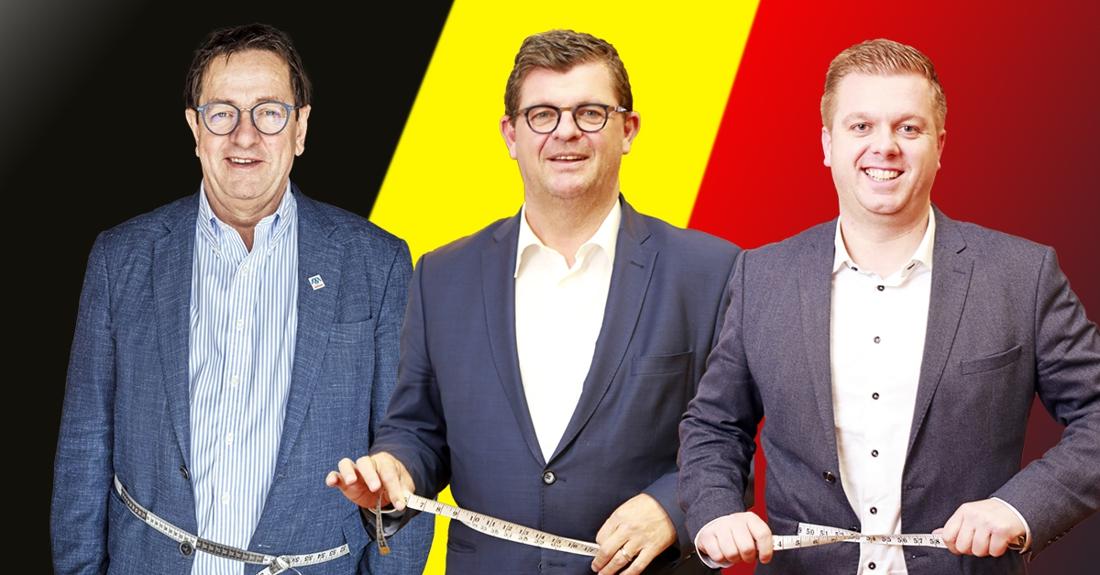 """Bart Tommelein en collega's binden de strijd aan tegen de kilo's: """"Het doel? Ruim onder de 100 kilo"""""""