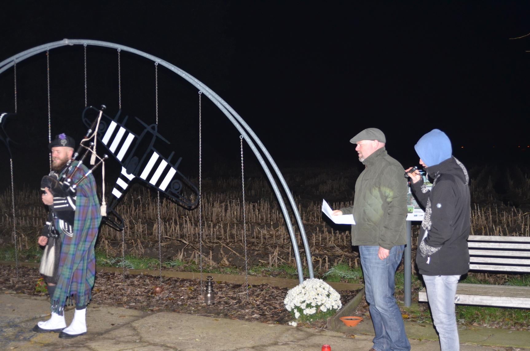 Herdenking 11 nov in Ursel en Lotenhulle
