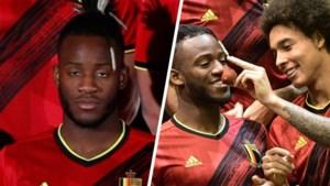 """De lol droop ervan af, maar het was toch weer Michy Batshuayi die de teamfoto van de Rode Duivels 'opfleurde': """"Bedankt jongens"""""""