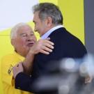 Poulidor (links) samen met zijn goede vriend Eddy Merckx