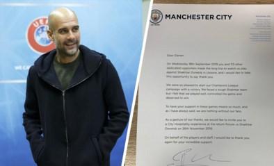 Klasse: Pep Guardiola bedankt 114 Man City-fans hoogstpersoonlijk (met extraatje)