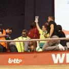 De G-sporters kregen in de tribune al de eerste nodige zorgen toegediend.
