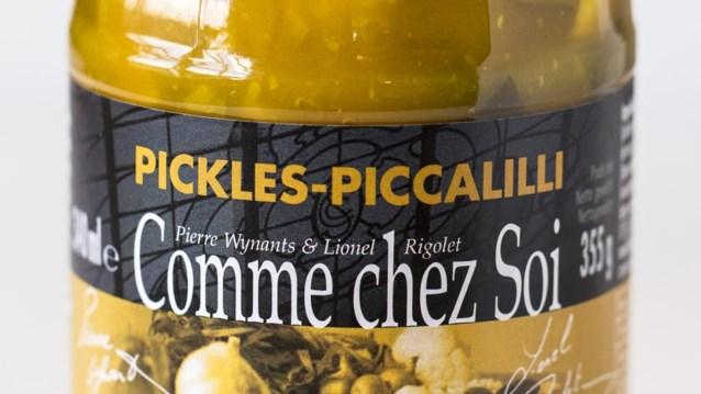 Mosterd vergeten op etiket: Delhaize roept pot pickles van Comme chez Soi terug