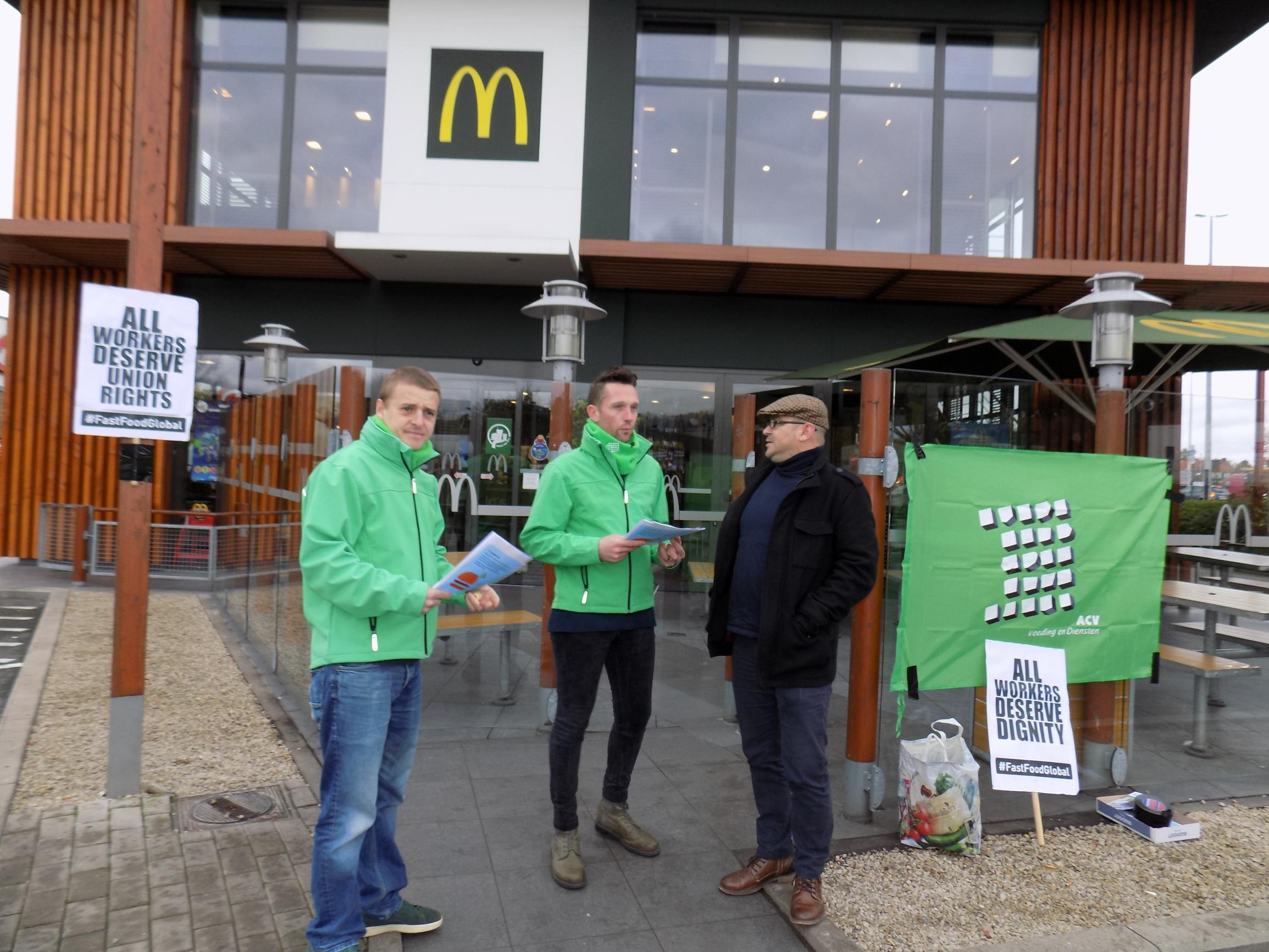 Actie aan McDonald's klaagt intimidatie werknemers aan