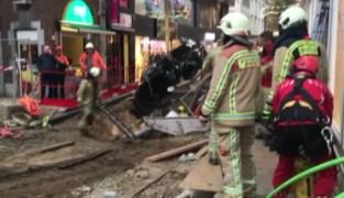 Gaspedaal scootmobiel hapert: man rijdt in metersdiepe put op Hasseltse Grote Markt