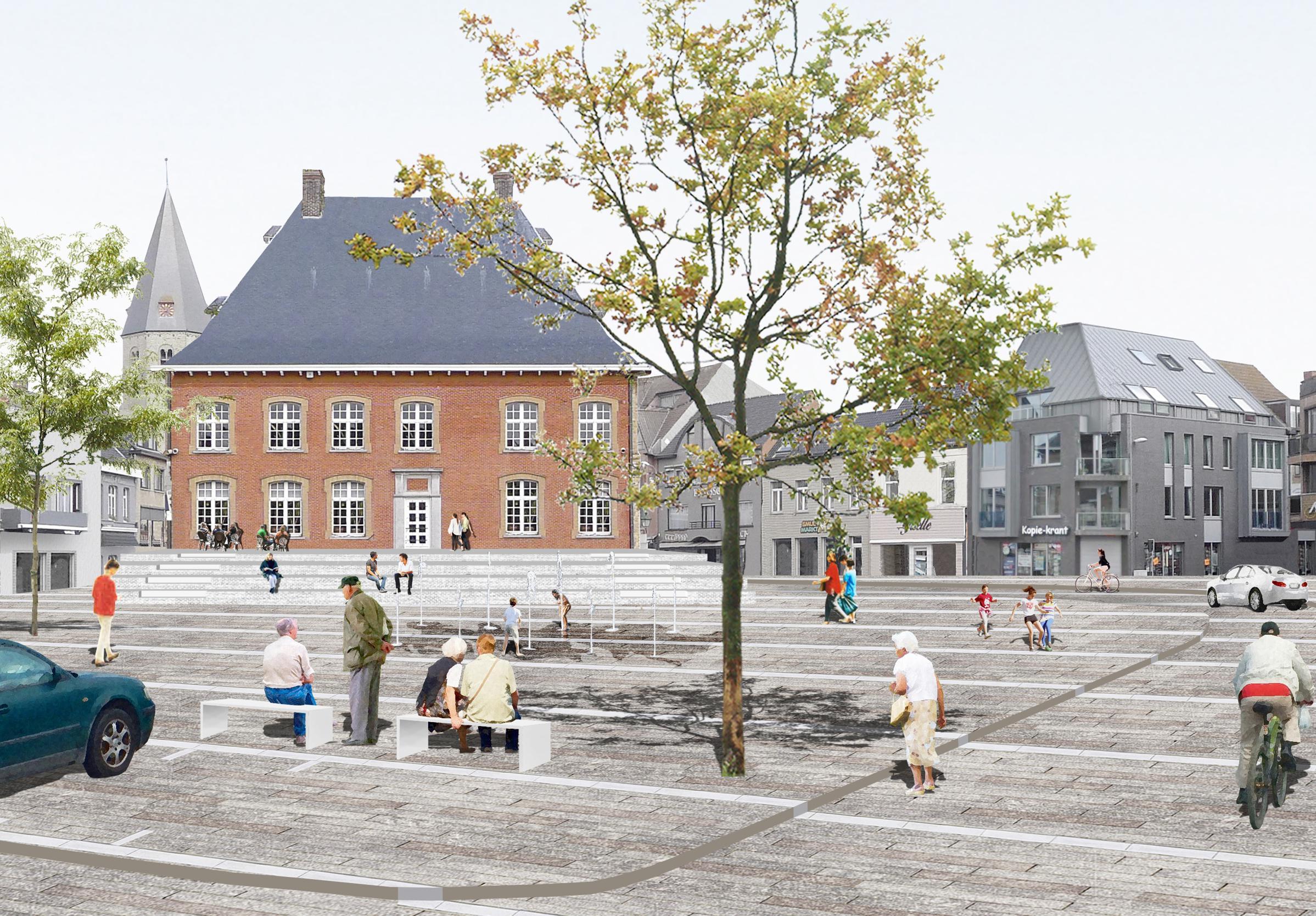 Maquette toont stadskernvernieuwing, die in maart start (Torhout) - Het Nieuwsblad