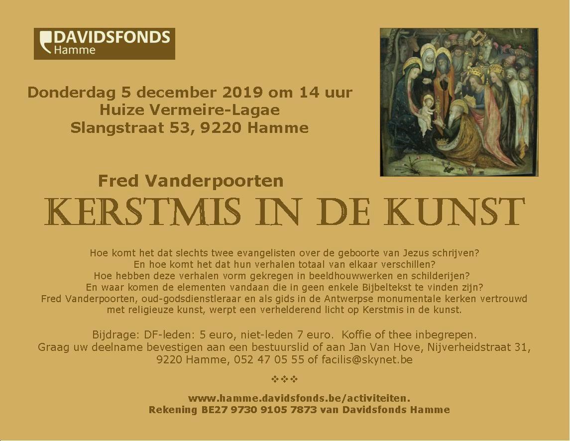 Davidsfonds belicht Kerstmis in de kunst (Hamme) - Het Nieuwsblad