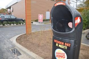 Burger King zet vuilnisbakken tegen vuilakken