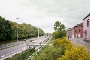 Stad plaatst voetgangersbrug aan nieuwe bushalte Lüdenscheidsingel