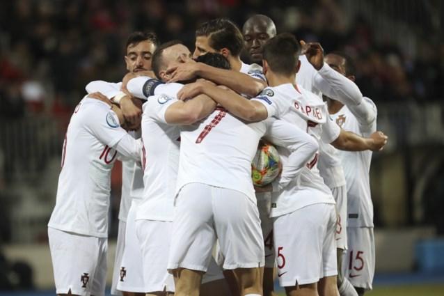 Titelverdediger Portugal bibbert even tegen Luxemburg, maar mag toch naar het EK