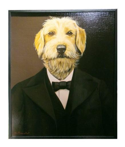 Laurent krijgt hondenschilderij maar heeft ook tijd voor Delphine Boël