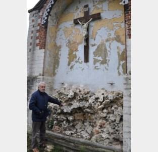 Kring pleit voor restauratie van calvarie achteraan kerk Meldert