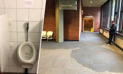 Duizenden liters water stromen door gerechtsgebouw door kapotte urinoir