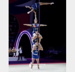 Zilver en brons voor acrogymnast Hannes Garré op EK in Israël
