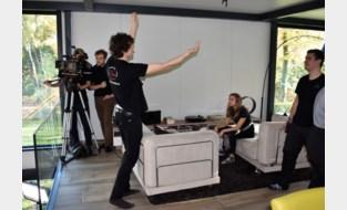 Filmstudenten nemen kortfilm op in kangoeroewoning