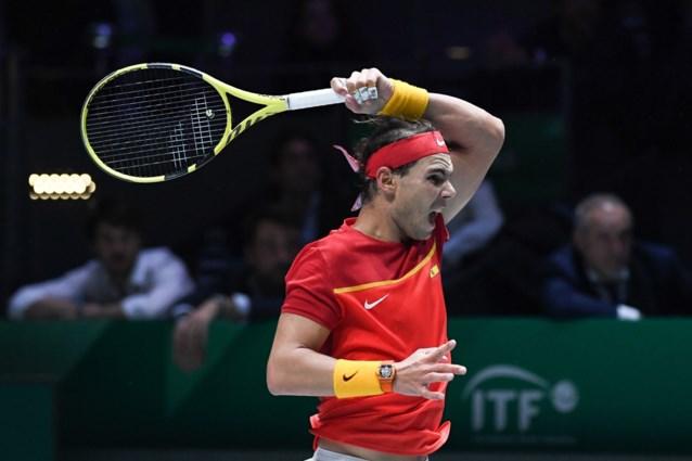 Spanje klopt Rusland na laat dubbelspel in Davis Cup, Nadal betreurt nachtelijke wedstrijden