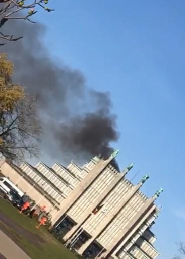 Brand in Paleis 5 op de Heizel: arbeiders probeerden zelf te blussen