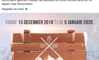 Hier wordt 'Wintermarkt' toch 'Kerstmarkt' na kritiek op sociale media: