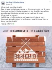 """Hier wordt 'Wintermarkt' toch 'Kerstmarkt' na kritiek op sociale media: """"Geschrokken van de reacties"""""""