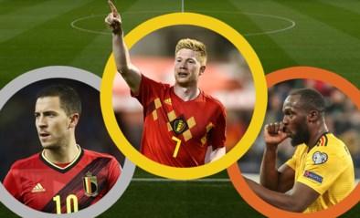 ONZE PUNTEN. Kevin De Bruyne steekt Eden Hazard en Romelu Lukaku de loef af als beste Rode Duivel in EK-voorronde