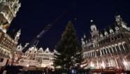 Kerstboom aangekomen op Grote Markt in Brussel