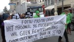 VIDEO. Museumpersoneel protesteert tegen nieuwe loons- en arbeidsvoorwaaden