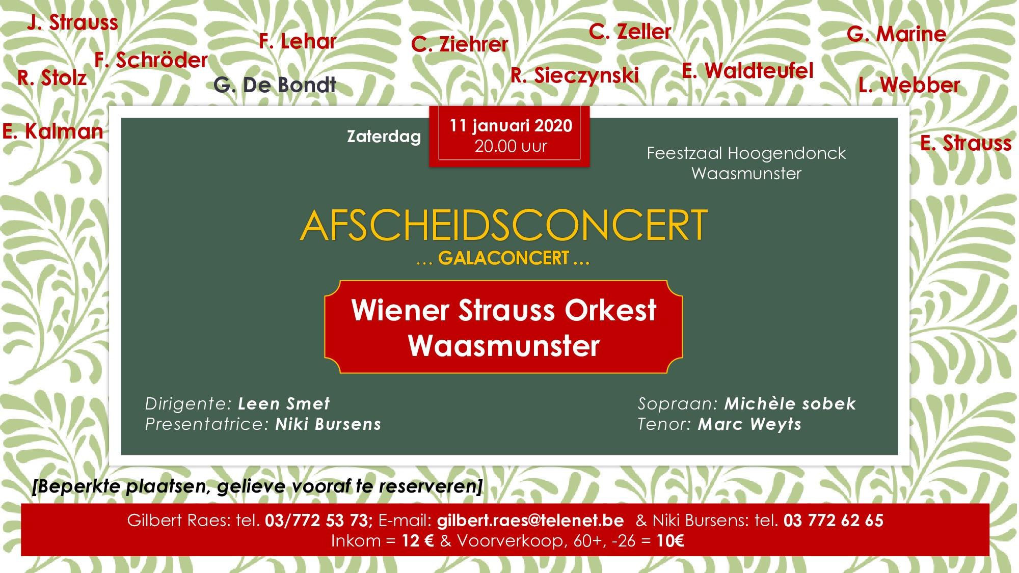 Waasmunsters orkest neemt afscheid met galaconcert