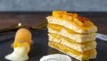 Hap en Tap. Gebakken ananas, vanillecrème en passievrucht espuma