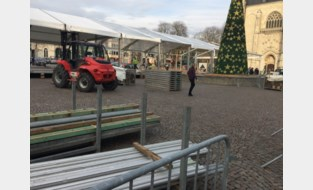Opbouw van Wintermagie aangevat op Grote Markt