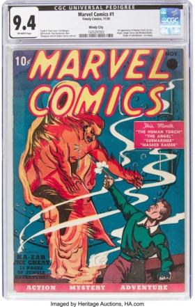 Eerste Marvel-strip geveild voor recordbedrag van 1,2 miljoen dollar