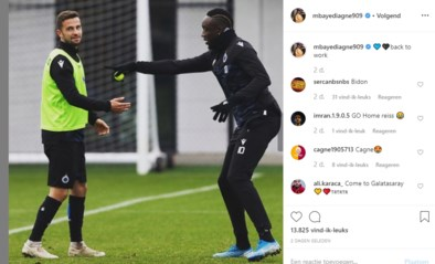 "Verbannen Mbaye Diagne trapt lol op training: ""Ik trap geen penalty, die is voor Hans"""